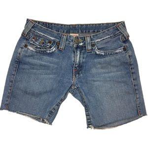 True Religion Joey diy cut off shorts sz 30